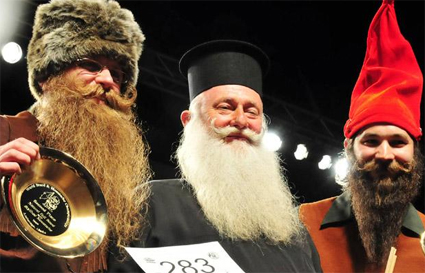 Natural Full Beard with Styled Moustache Champions 2009 - Bob Gengler, Bernd Popiak, Kyle McNair