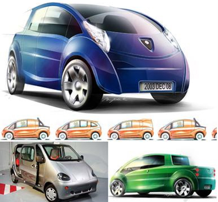 Air Car Designs from Zero Pollution Motors