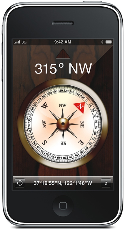 Apple iPhone 3GS Pictures: Built-in Digital Compass