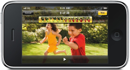 Apple iPhone 3GS Pictures: Picture & Video Editing