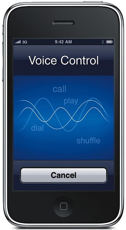 Apple iPhone 3GS Pictures: Voice Control