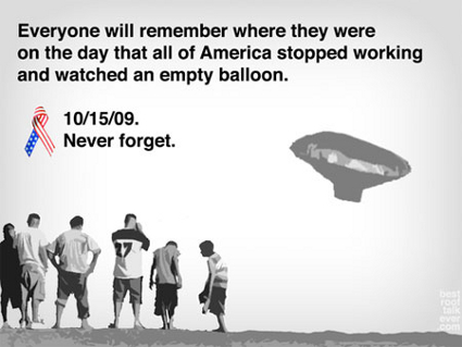Never Forget 10/15/2009 (Balloon Boy Meme)