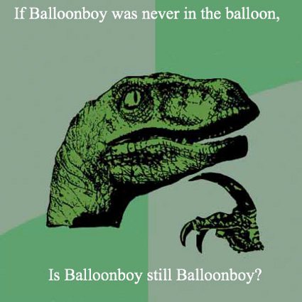 Inquisitive Raptor (Balloon Boy Meme)
