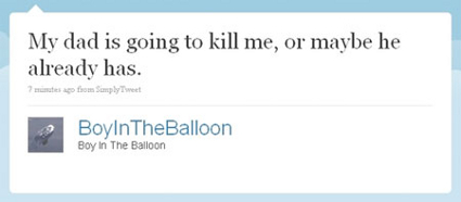 Twitter Status Update (Balloon Boy Meme)