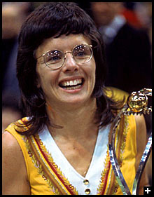 Billie Jean King in Yellow