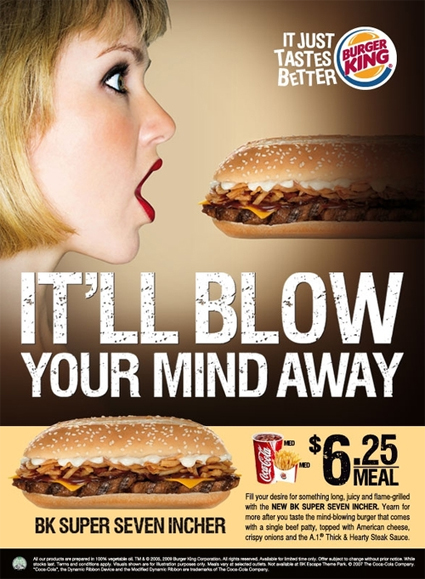 Burger King BK Super Seven Incher Ad (It'll Blow Your Mind Away)