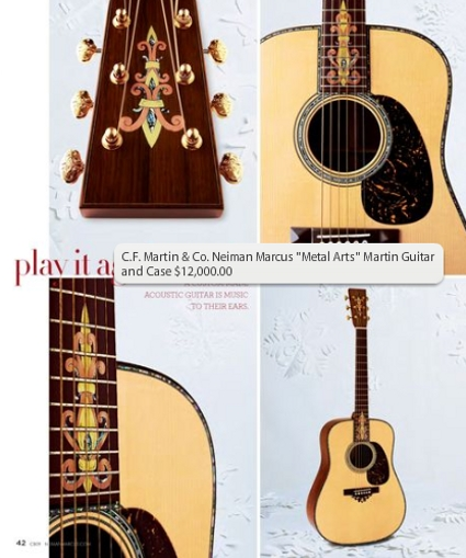 Neiman Marcus Metal Arts C.F. Martin Acoustic Guitar and Case ($12,000)