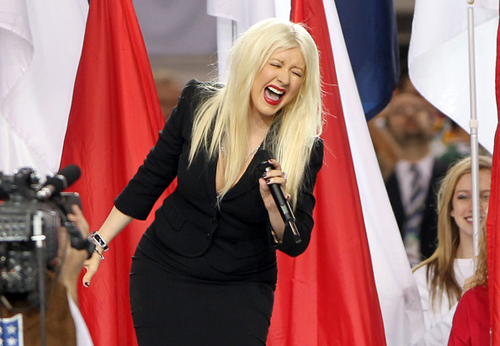 "Somewhere, Wayne Brady was like, ""Hey, Christina Aguilera. Don't forget the lyrics to the National Anthem."""