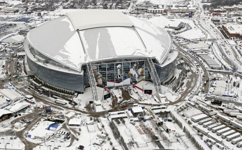 Ice Falling Off the Roof at Dallas Cowboys Stadium? Really?
