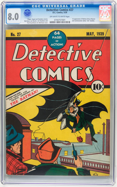 Detective Comics No. 27: The first appearance of Batman in a comic book (May, 1939)