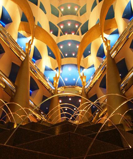 Inside the Burj Al Arab Hotel in Dubai, UAE