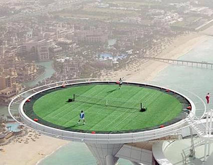 Tennis at the Burj Al Arab Hotel
