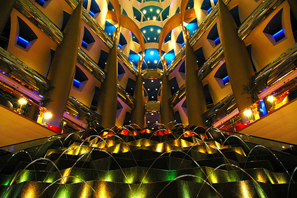 Stunning Lighting at Dubai's Burj Al Arab Hotel