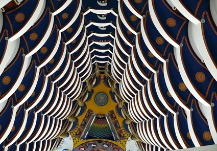 The Atrium of the Burj Al Arab Hotel