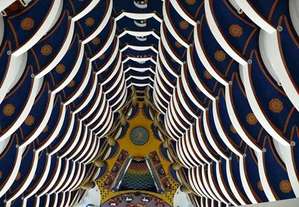 The Atrium of the Burj Al Arab Hotel