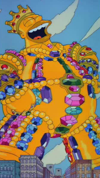 Homer's dream where he imagined what he'd do with $40,000