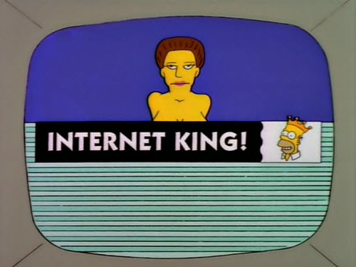 Homer Simpson - INTERNET KING!