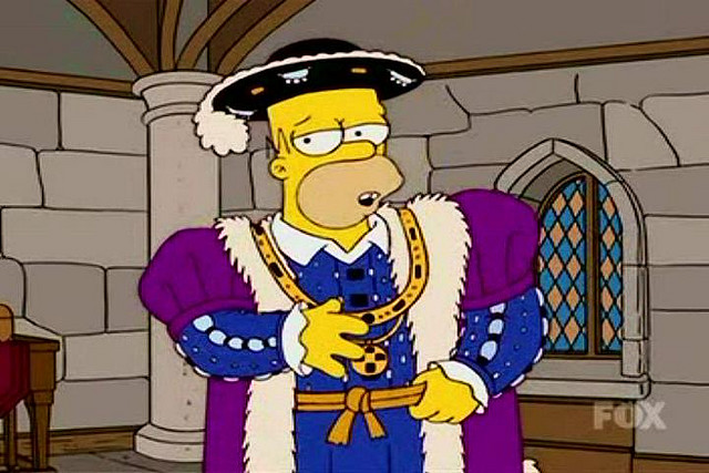 Homer Simpson as King Henry