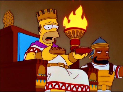 Homer Simpson as King Solomon