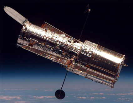 Hubble Space Telescope orbiting 350 miles above Earth