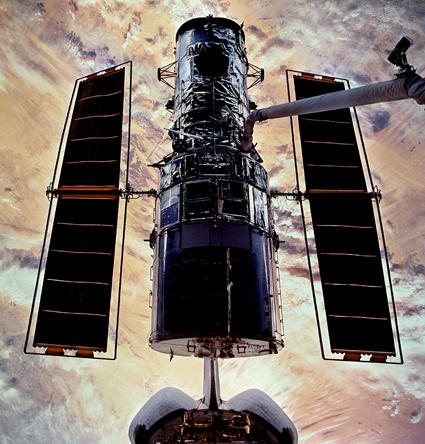 Space Shuttle Columbia docked with the Hubble Space Telescope (2002)