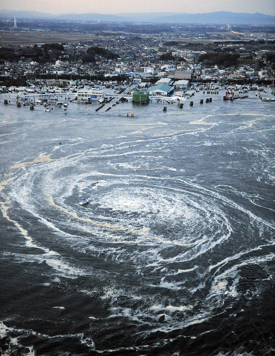 Whirlpool: Pictures from the 8.9-magnitude earthquake that hit Japan (March 2011)