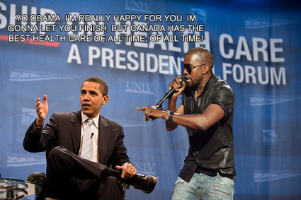 Kanye West interrupts President Obama