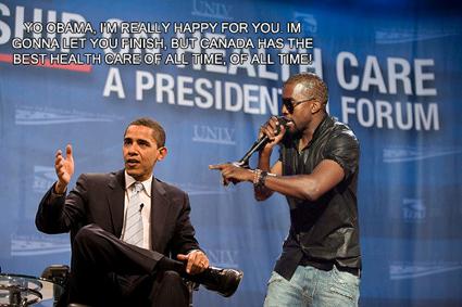 Kanye West interrupts President Obama