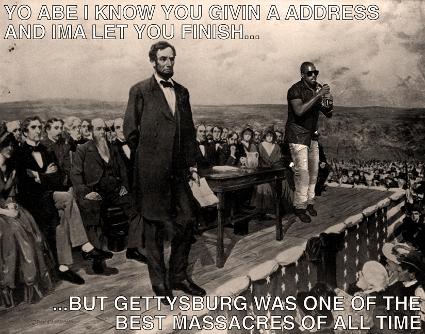 Kanye West interrupts Abraham Lincoln at Gettysburg
