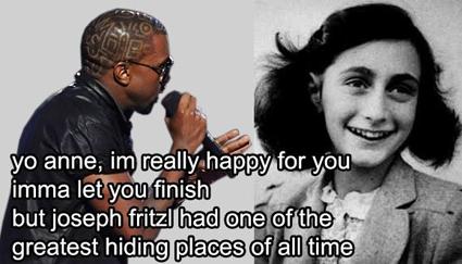 Kanye West interrupts Anne Frank