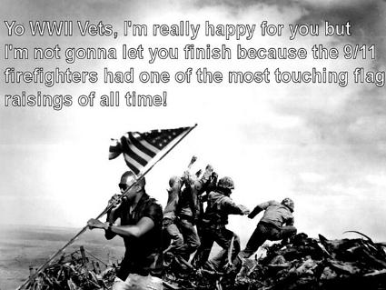 Kanye West interrupts Battle of Iwo Jima
