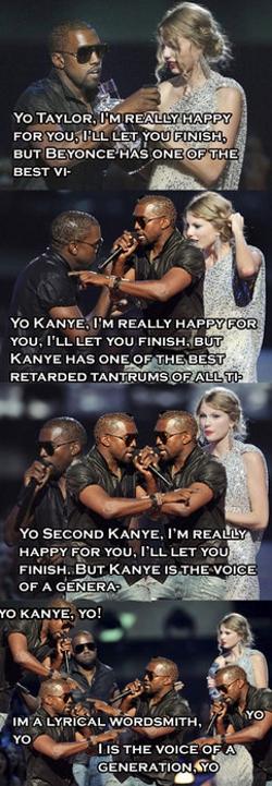 Kanye West interrupts Kanye West