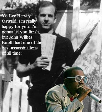 Kanye West interrupts Lee Harvey Oswald