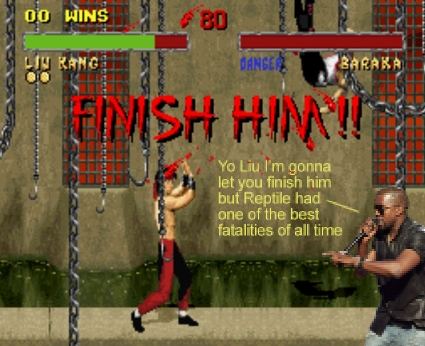 Kanye West interrupts Liu Kang in Mortal Combat