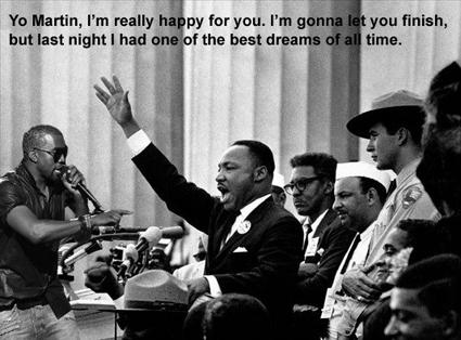 Kanye West interrupts Martin Luther King, Jr