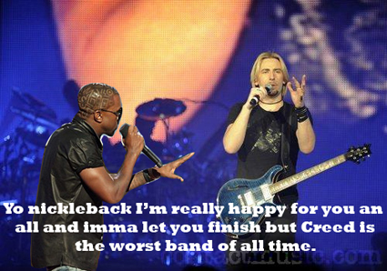Kanye West interrupts Nickelback