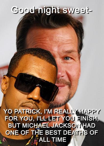 Kanye West interrupts Patrick Swayze