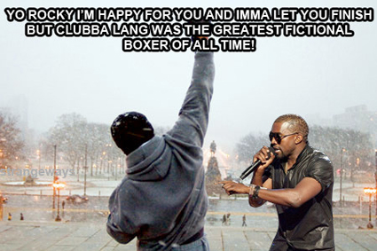 Kanye West interrupts Rocky Balboa