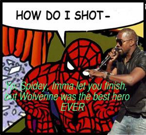 Kanye West interrupts Spider-Man