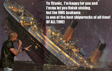 Kanye West interrupts the Titanic as it sinks