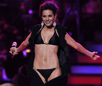 Kara DioGuardi in a bikini at the American Idol Season Finale 2009