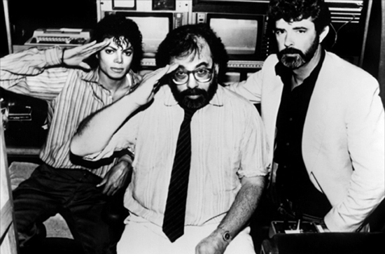 Michael Jackson, Francis Ford Coppola & George Lucas (filming Captain EO)