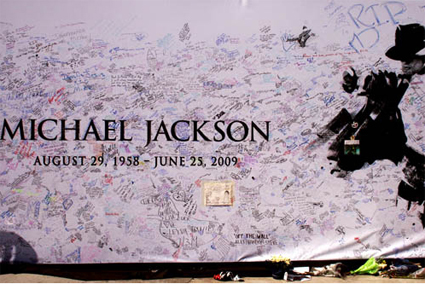 Michael Jackson Funeral Poster Signed at Staples Center in Los Angeles, CA