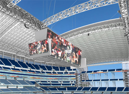 Mitsubishi Electric Diamond Vision HDTV at Dallas Cowboys Stadium