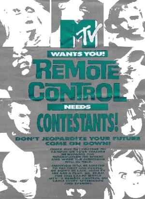 MTV Remote Control Needs Contestants Flier Ad