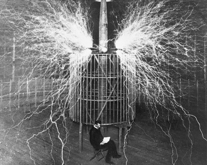 Nikola Tesla at Wardenclyffe
