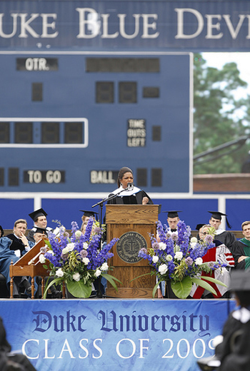 Oprah at Duke University Commencement 2009