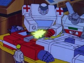 Ratchet, the ambulance Transformer