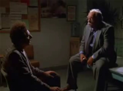 Cosmo Kramer confronted by the Postmaster General (Wilford Brimley)