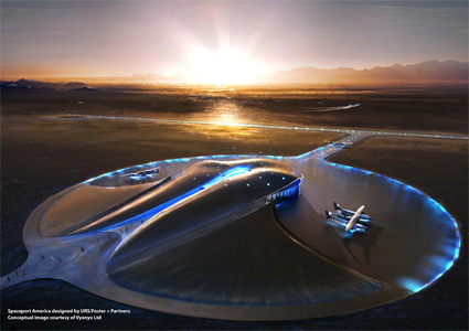 Conceptual Picture of Spaceport America in New Mexico